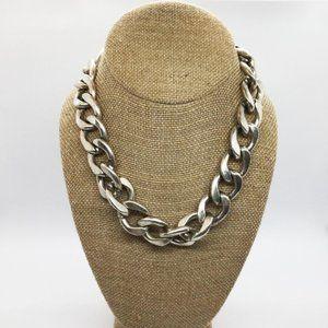 Jenny Bird Silver Leather RiRi Collar Necklace